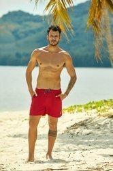 Szorty, kąpielówki męskie Henderson Hooper, czerwone